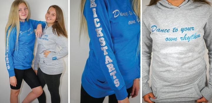 grey-blue long hoodies